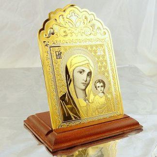 Икона Богородицы настольная