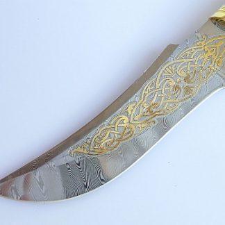 нож кабан дамаск