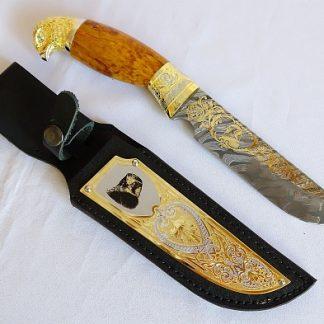 """Нож элитный """"Важная птица"""" дамаск"""