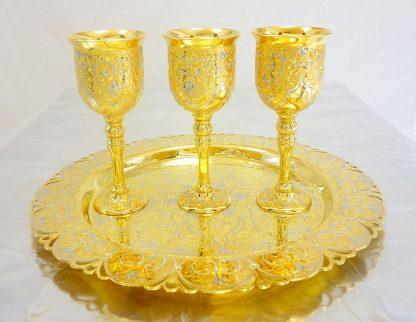 винный набор золотая гравюра