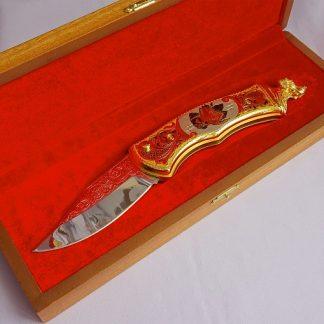 Нож складной украшенный №4