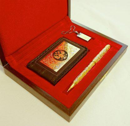 набор визитница флешка ручка украшенная