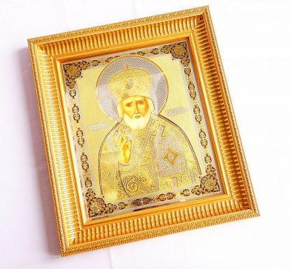 Икона Николая Чудотворца рукописная