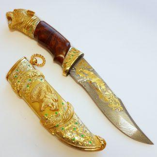 нож тигр дамаск