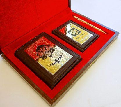 """Набор """"Ежедневник, обложка паспорт, ручка украшенная"""