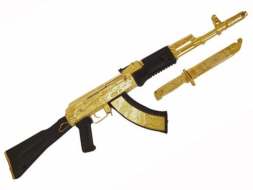 Автомат Калашникова в золоте!
