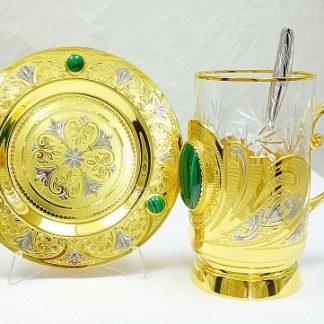 """Набор для чая """"Золотой орнамент"""""""