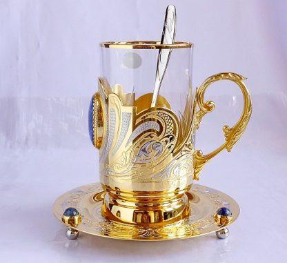 """Чайный набор """"Золотой лазурит"""""""