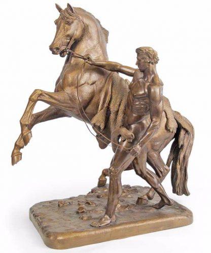 Бронзовая статуэтка лошадь