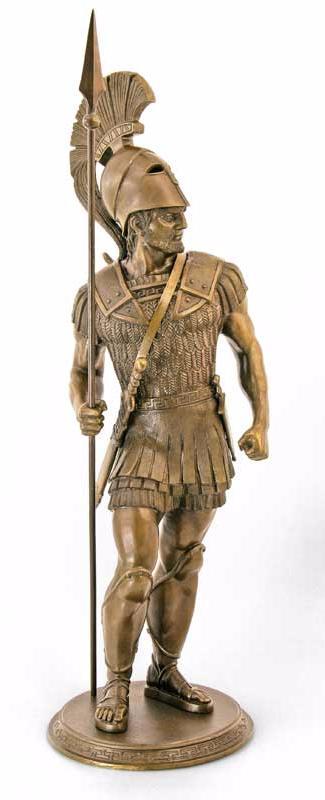 элитный спартанец из бронзы