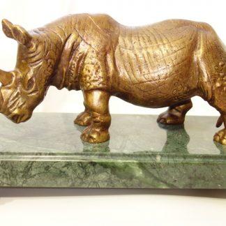 статуэтка из бронзы носоро